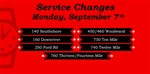 Service Changes