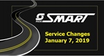 January Service Changes