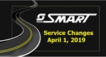 April Service Changes