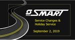 Service Changes and Holiday Service