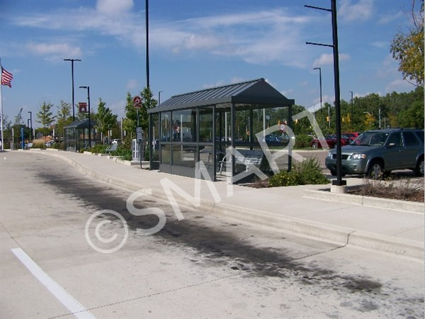 SMART bus shelter at the Dearborn Terminal.