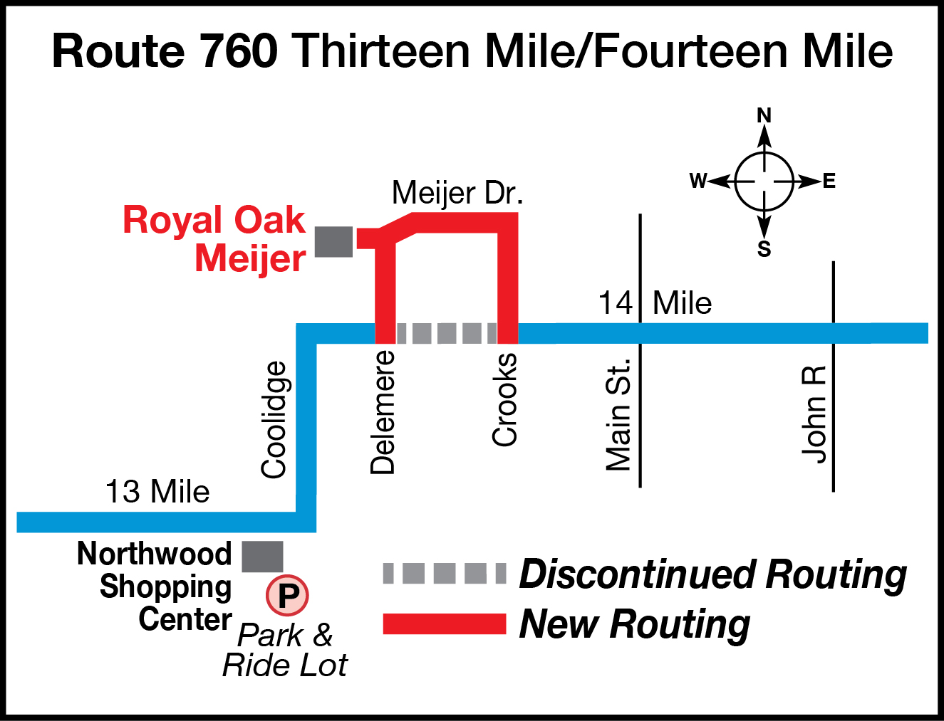760 Routing Change